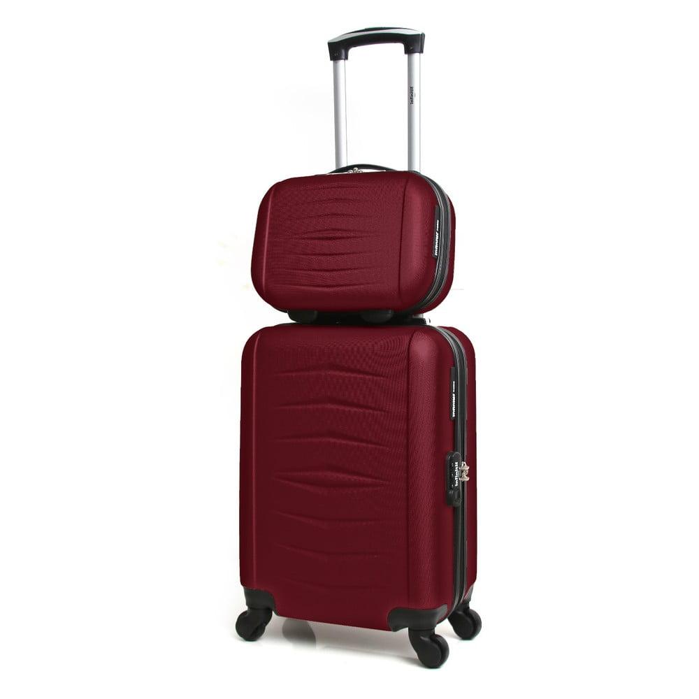 Sada 2 vínových cestovních kufrů na kolečkách Infinitif Oviedo