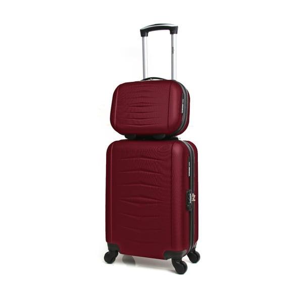Oviedo 2 db-os borvörös gurulós bőrönd szett - Infinitif de8efe742b