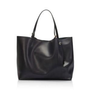 Tmavě modrá kožená kabelka Lisa Minardi Beallara