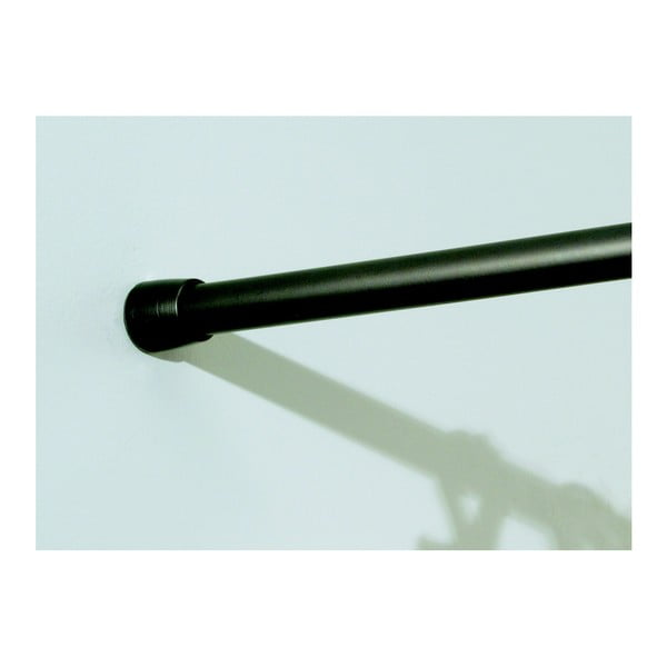 Černá konzole na sprchový závěs s nastavitelnou délkou iDesign Rod