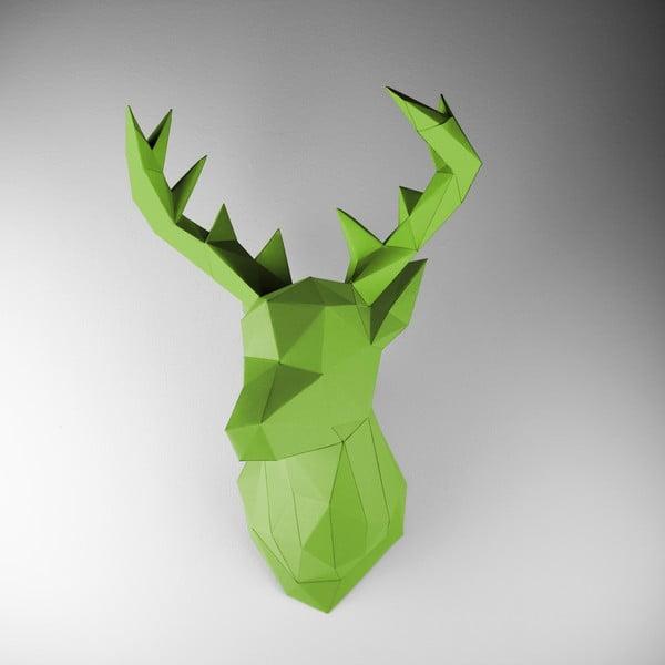 Papírová trofej Jelen, zelený