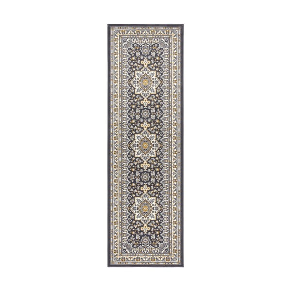 Ciemnoszary chodnik Nouristan Parun Tabriz, 80x250 cm