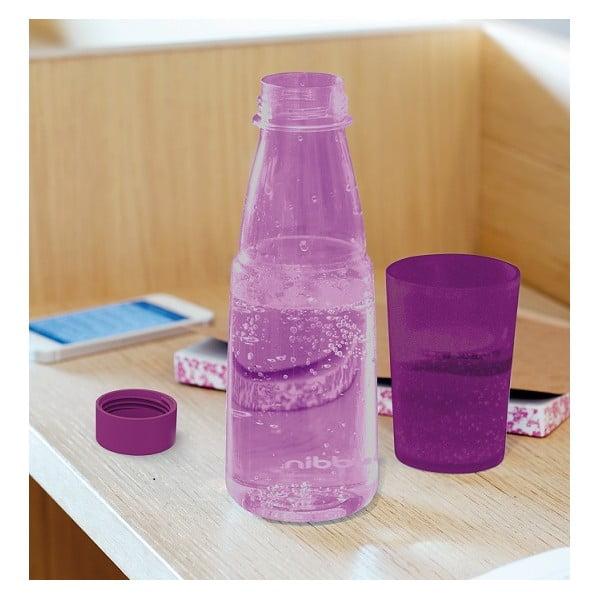 Lahev na vodu s kalíškem Crave, fialová