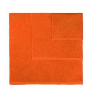Sada 3 oranžových ručníků Artex Alfa