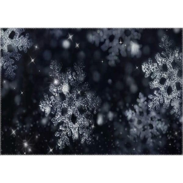 Dywan Vitaus Christmas Period BW Snowflake, 50x80 cm