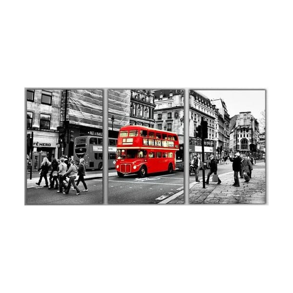 3dílný obraz London, 45x90 cm