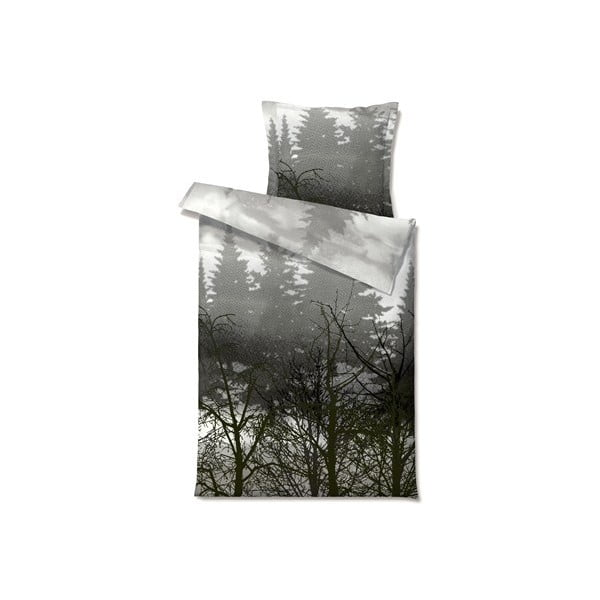 Povlečení Misty Morn Grey, na jednolůžko (200x140 cm)