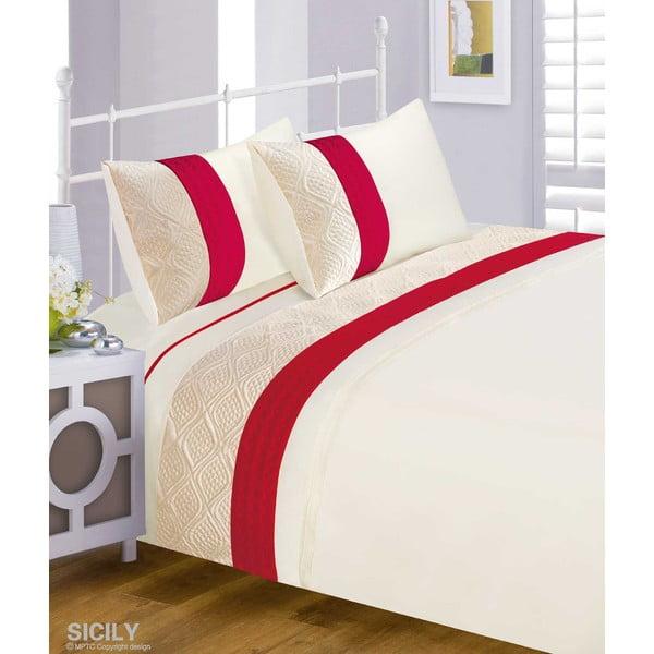 Povlečení Sicily Red, 200x200 cm