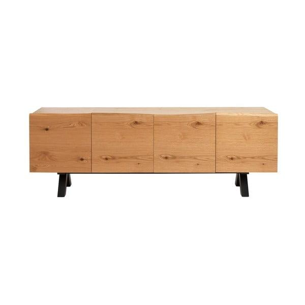Niska komoda z drewna białego dębu Unique Furniture Oliveto