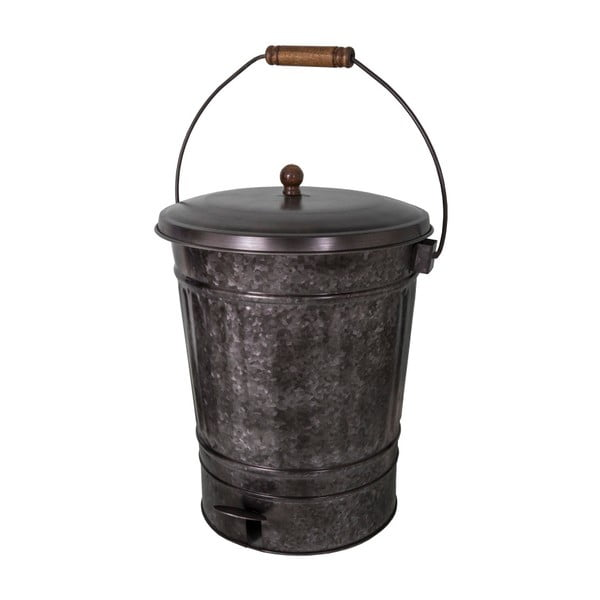 Čierny kovový odpadkový kôš Antic Line