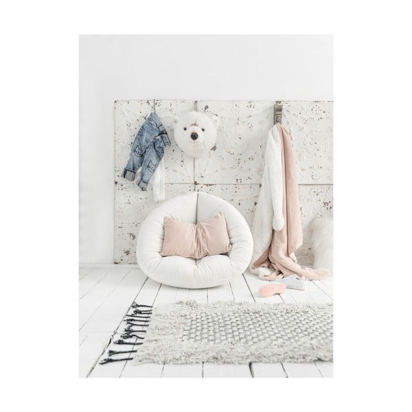 Fotoliu extensibil pentru copii Karup Design Mini Nido Pink Peonie