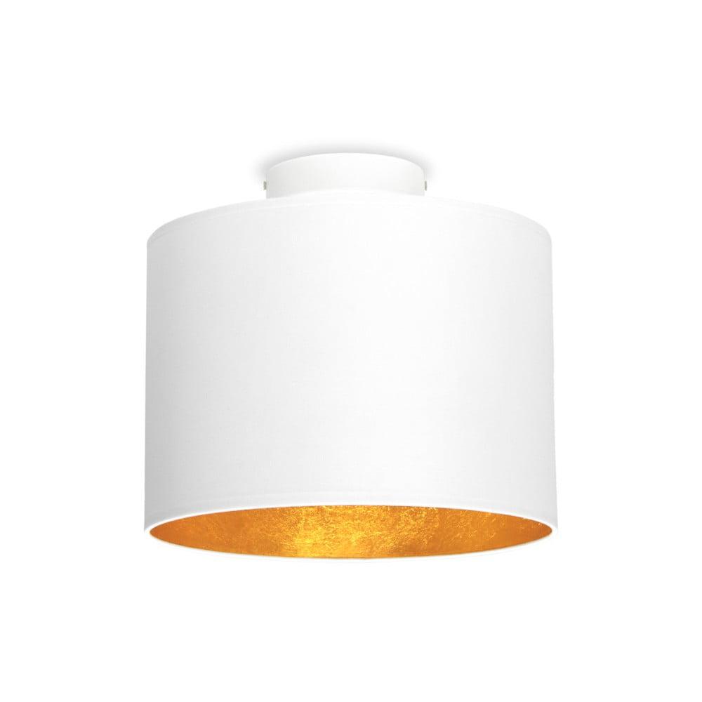 Bílé stropní svítidlo s detailem ve zlaté barvě Sotto Luce MIKA,Ø25cm