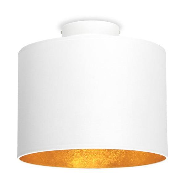 MIKA fehér mennyezeti lámpa aranyszínű részletekkel, Ø25cm - Sotto Luce