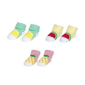 Sada 3 párů ponožek pro miminko Le Studio Fruits