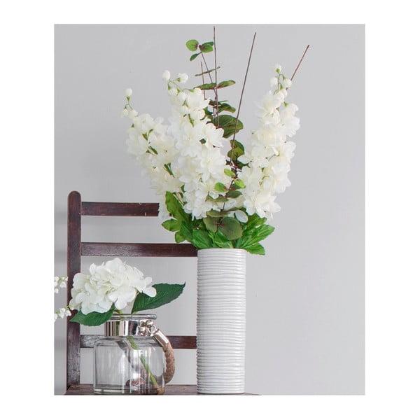 Keramicka váza s umělou květinou Delphinium, 82 cm