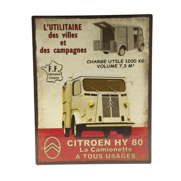 Plechová cedule Camion 80, 22x28 cm