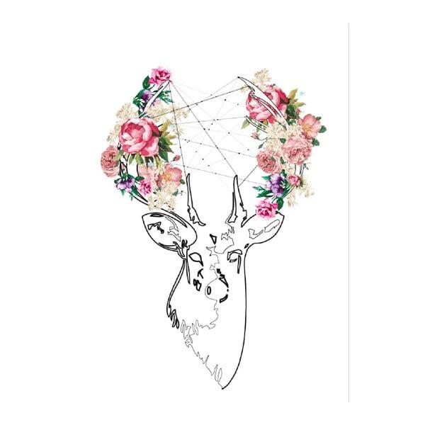 Pictură pe pânză Deer, 70 x 100 cm