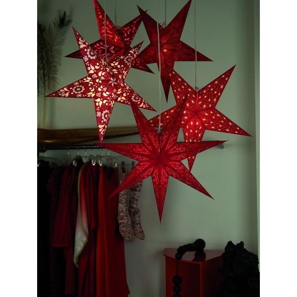 Dekorativní hvězda Geeta Red, 60 cm