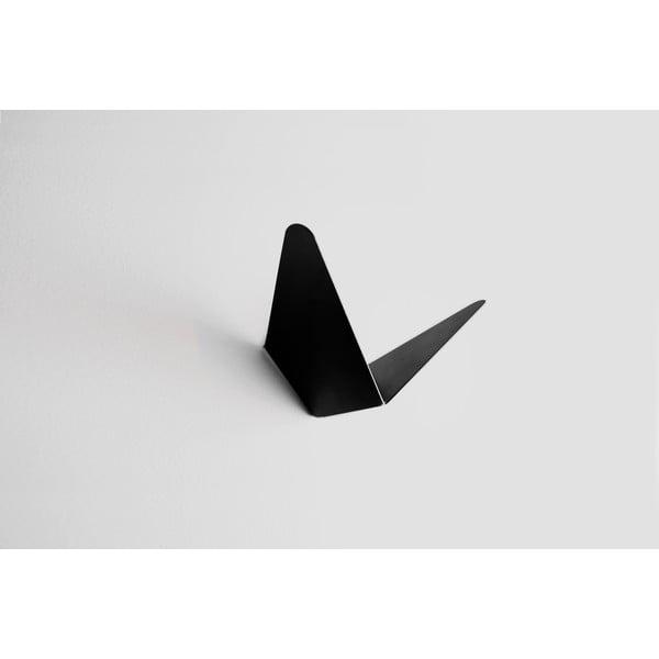 Černý věšák s úložným prostorem Butterfly Small, 8,9x8,3 cm