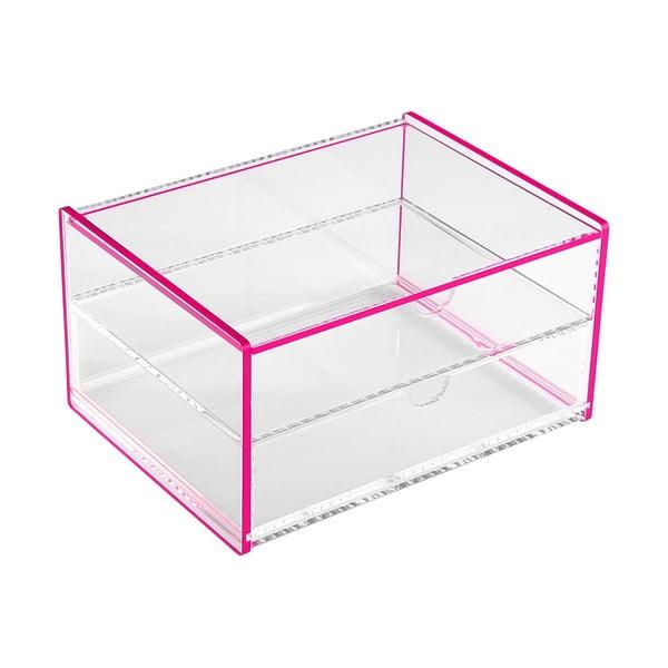Růžový úložný box Versa Ariel, 17,1x13x9,2cm