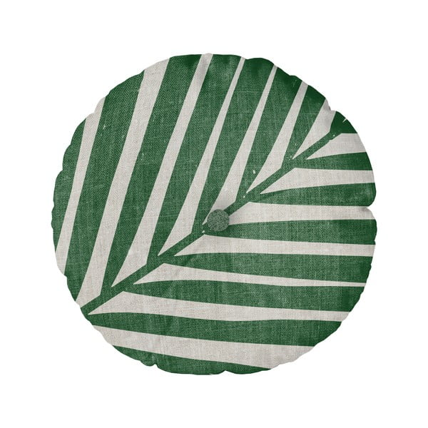 Poduszka Linen Couture Cojin Redondo Palm, ⌀ 45 cm