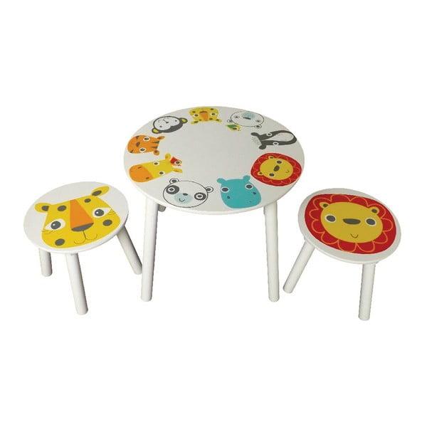 Dětský stolek a 2 stoličky Safari