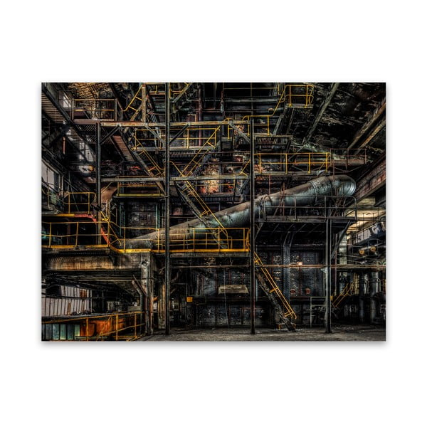Obraz na płótnie Styler Yellow Factory, 115x87 cm