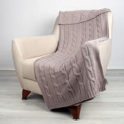 Béžová bavlněná deka Homemania Couture, 170x130cm