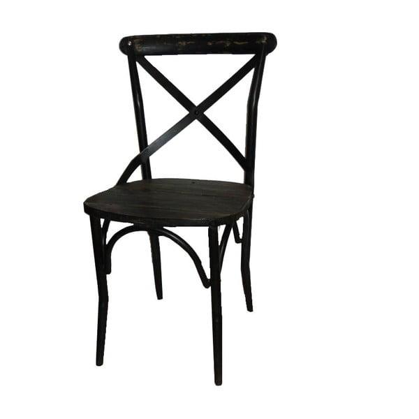 Židle Chaise Industrielle Noire