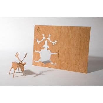 Carte poștală din lemn Formes Berlin Sob, 14,8 x 10,5 cm