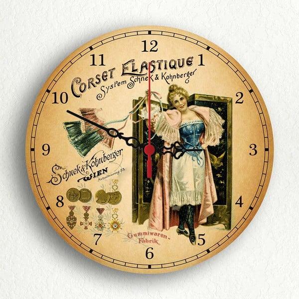 Nástěnné hodiny Corset Elastique, 30 cm