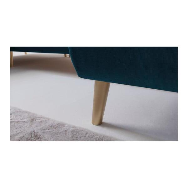 Tmavě modrá rozkládací pohovka Bobochic Paris Hera, pravý roh