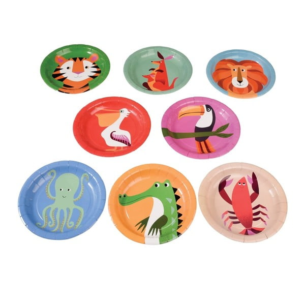 Set 8 farfurii Rex London Colourful Creatures