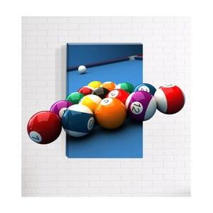 Nástěnný 3D obraz Mosticx Kulečník, 40 x 60 cm