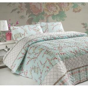 Přehoz přes postel na dvoulůžko s povlaky na polštáře Birdcage,200x220cm