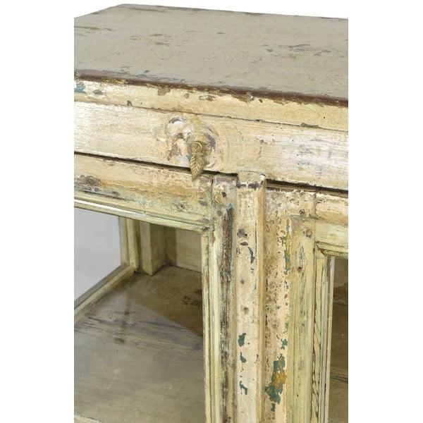 Prosklená skříňka Goa 70x108 cm, bílá patina