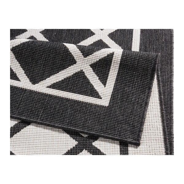 Covor reversibil adecvat interior/exterior Bougari Sydney 80 x 150 cm, negru-crem