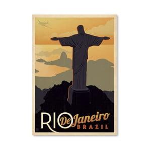 Plakát Americanflat Rio, 42 x 30 cm