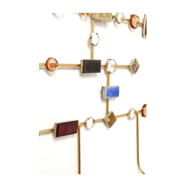 Nástěnný věšák z oceli ve zlaté barvě Kare Design Murano