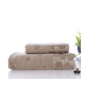Sada 2 ručníků  Tropical Beige, 50x90 cm a 70x140 cm