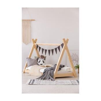 Cadru pat din lemn de pin, în formă de căsuță Adeko Mila TP, 70 x 140 cm