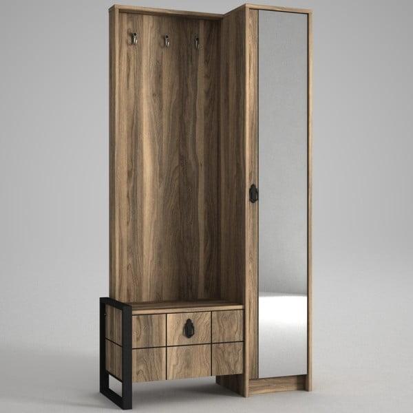 Ratto Lost szekrény tükörrel, diófa dekor
