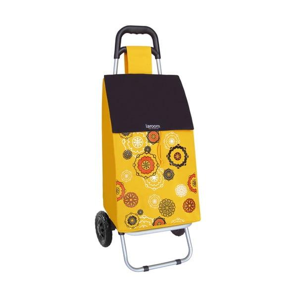 Nákupní taška na kolečkách Mandala Yellow