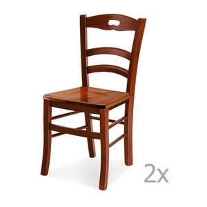 Set 2 scaune din lemn Castagnetti Noce