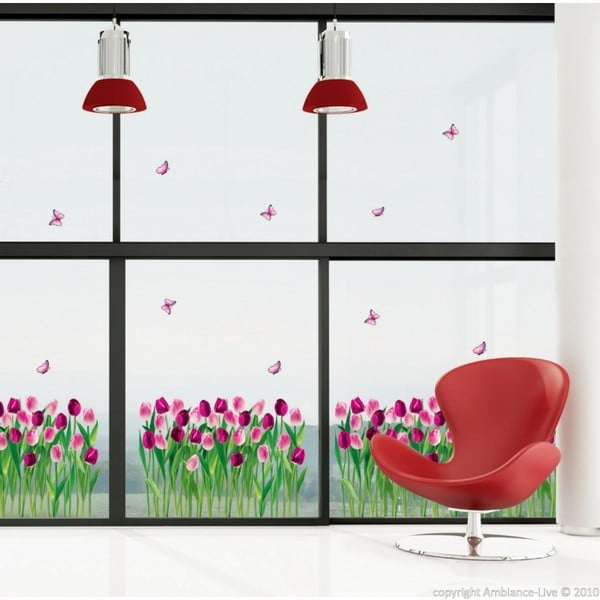 Autocolant Ambiance Dreaming Tulips, 100 x 35 cm