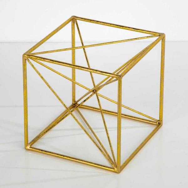 Dekorace ve zlaté barvě Thai Natura Geometric, 20x20cm
