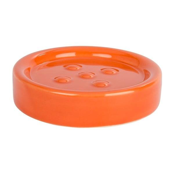 Oranžová podložka pod mýdlo Wenko Polaris Orange