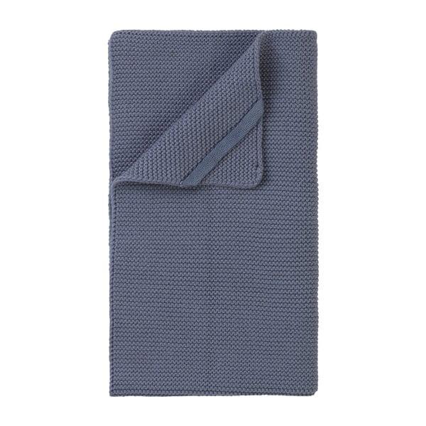 Modrošedá pletená utěrka Blomus Wipe, 55x32cm