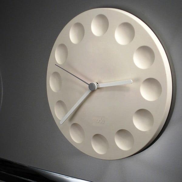 Magnetické hodiny Mode Fridge Clock, krémové