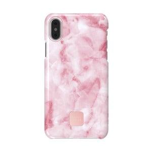 Růžovo-bílý kryt na telefon pro iPhone X a XS Happy Plugs Slim